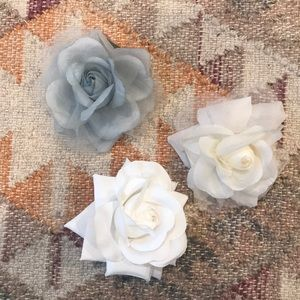 Roses - pins, hair clips or hair ties
